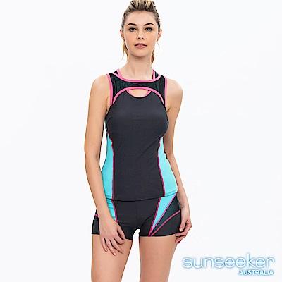 澳洲Sunseeker泳裝運動型兩件式泳衣-深灰