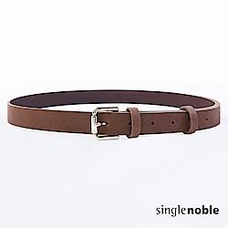 獨身貴族 經典高雅金屬扣環皮帶(2色)