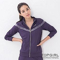 【TOP GIRL】銀河系女孩POLY針織外套-深情紫