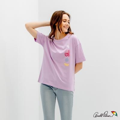 Arnold Palmer -女裝-未來感訊息印花TEE-紫色
