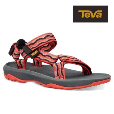 【TEVA】原廠貨 中童 Hurricane XLT2 機能運動涼鞋/雨鞋/水鞋/童鞋(基什紅-TV1019390CKFRD)