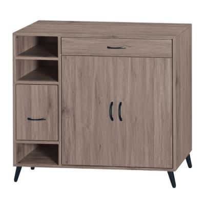綠活居 菲迪現代風4尺二門二抽鞋櫃/玄關櫃-118x41x107.5cm免組