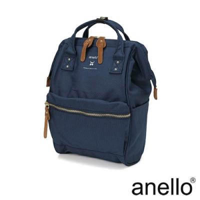 anello RE:MODEL 防潑水經典口金後背包 深藍 Small