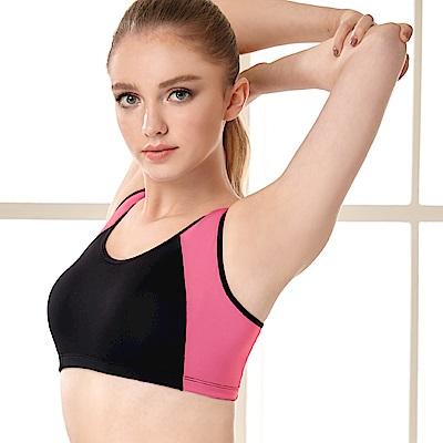 蠶絲蛋白低摩擦包覆調節式M-XL運動內衣 芭比粉 可蘭霓Clany