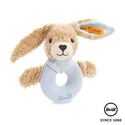 STEIFF德國金耳釦泰迪熊 - 兔子 有機棉 手搖玩偶(嬰幼兒搖鈴)