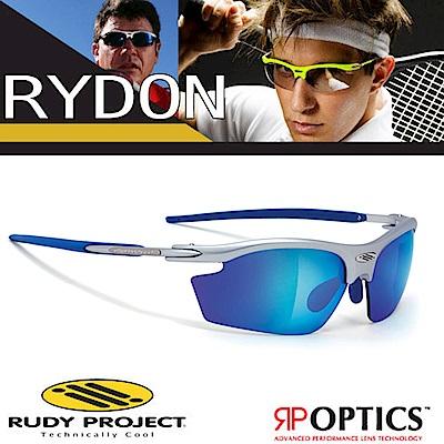 Rudy Project RYDON 專業抗紫外線鍍銀運動眼鏡_銀藍色框+藍色鍍銀片