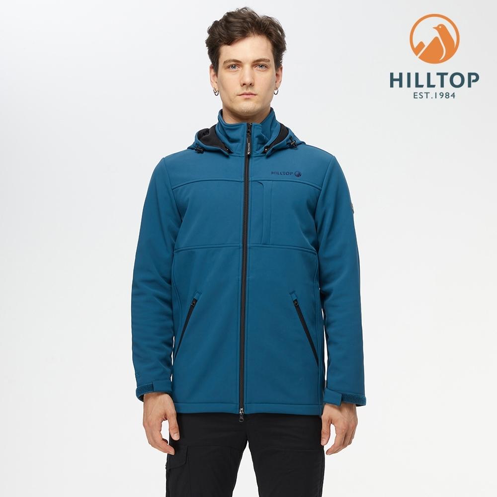 【hilltop山頂鳥】男款WINDSTOPPER防風透氣長版外套H21M09軍團藍