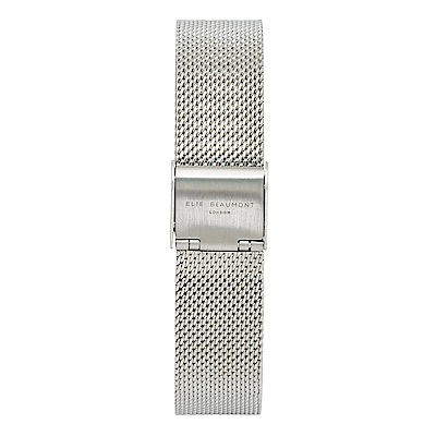 Elie Beaumont 英國時尚手錶 銀色錶扣米蘭替換錶帶 16mm