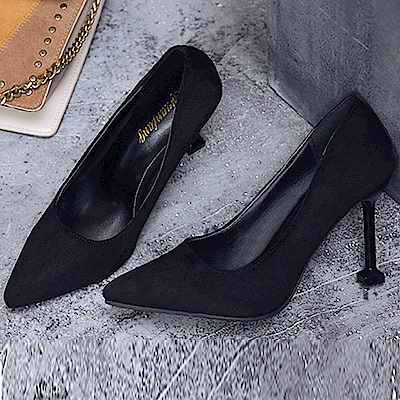 KEITH-WILL時尚鞋館 歐洲款縹緲情愫細跟鞋-黑色