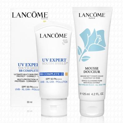 LANCOME蘭蔻 超輕盈UV BB霜30ml+清柔保濕洗面霜125ml