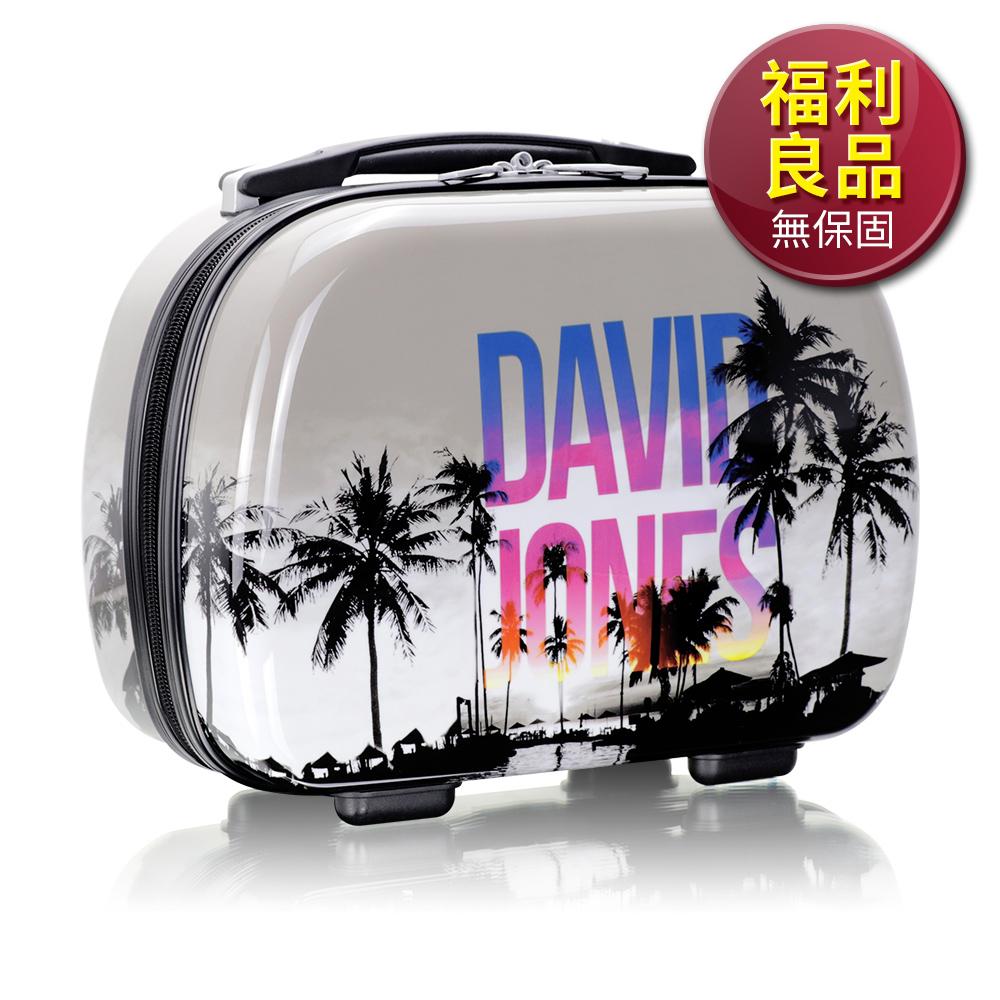 福利品 旅行收納可外掛式 PC硬殼收納箱 化妝包 過夜包(島嶼天堂)