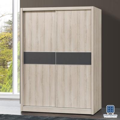 Hampton斯威尼橡木白4X7尺推門衣櫥-120*60*201.5cm