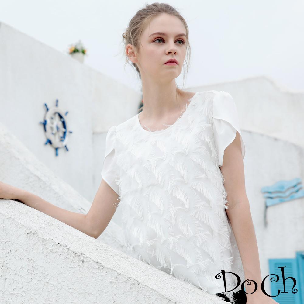 【Doch】典雅時尚雪紡設計上衣(共兩色)