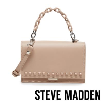 STEVE MADDEN-BFLYN 輕甜鉚釘可愛鍊條手提斜背兩用小包-粉藕