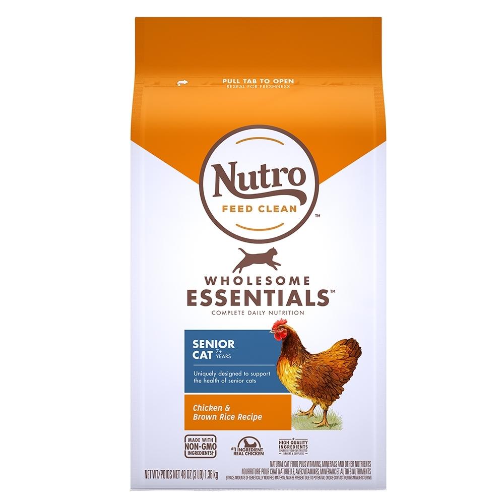 Nutro 美士 全護營養 熟齡貓配方(農場鮮雞+糙米)5磅