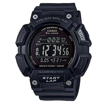 CASIO 太陽能全方位亮眼配色運動風數位錶(STL-S110H-1B2)-黑/52.7
