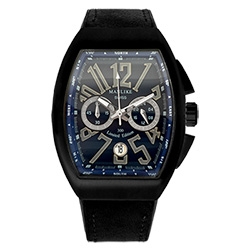 Manlike 曼莉萊克 碼表計時功能大酒桶限量腕錶 黑殻藍面黑帶
