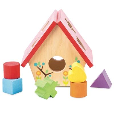 英國 Le Toy Van- Petilou系列啟蒙玩具系列-小小鳥屋立體形狀啟蒙玩具