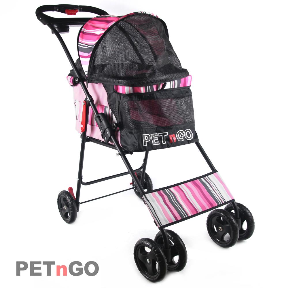 PETnGO 高景觀寵物推車-粉紅海洋