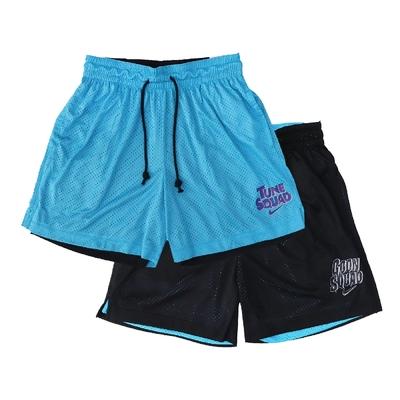 Nike 短褲 Basketball Pants 男女款 Space Jam 怪物奇兵 雙面穿 運動 藍黑 DJ3897-434