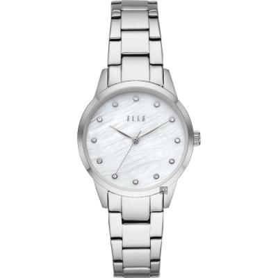 ELLE Molitor 晶鑽女錶-珍珠貝x銀/33mm ELL25001