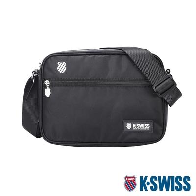 K-SWISS KS Patch Shoulder Bag休閒斜背包-黑