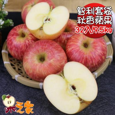 果之家 智利空運套袋無蠟富士秋香蘋果32顆9.5KG