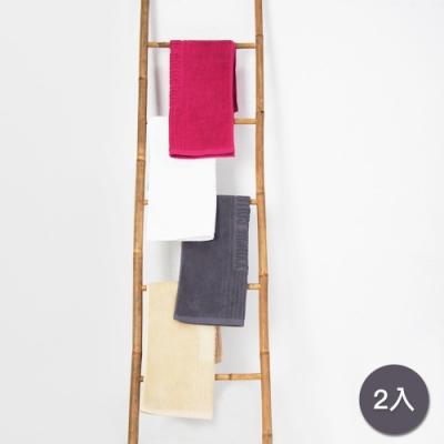 Yvonne Collection 毛巾浴室地墊2入(50x80cm)-暗灰
