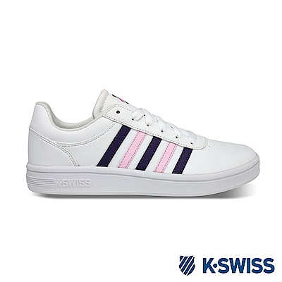 K-SWISS Court Cheswick S休閒運動鞋-女-白/紫/粉紅