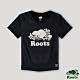 Roots 女裝- 璀璨銀河系列 星座海狸LOGO短版T恤-黑色 product thumbnail 1