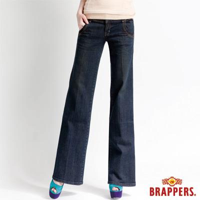 BRAPPERS 女款 新美腳二代系列-彈性寛版褲-藍