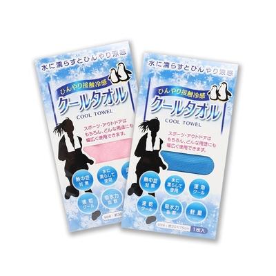 (6入組) Cool Fabric 台灣製涼感降溫涼感毛巾-(藍*6 /粉*6 /藍*3+粉*3)