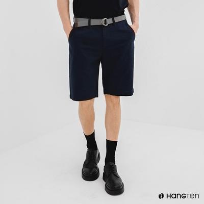 Hang Ten-男裝-REGULAR FIT附腰帶短褲-深藍色