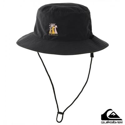 【QUIKSILVER】UV OUTDOOR REVERSIBLE HAT 戶外運動帽 黑色
