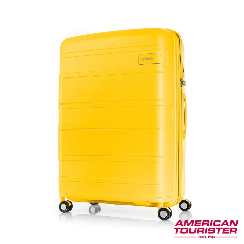 AT美國旅行者 30吋Litevlo極輕量耐衝擊飛機輪PP可擴充硬殼行李箱(芥末黃)