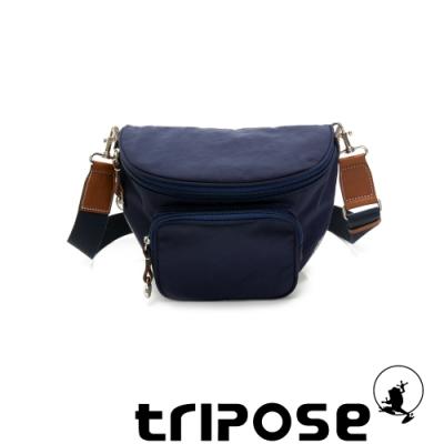 tripose 漫遊系列岩紋斜背腰包 深海藍