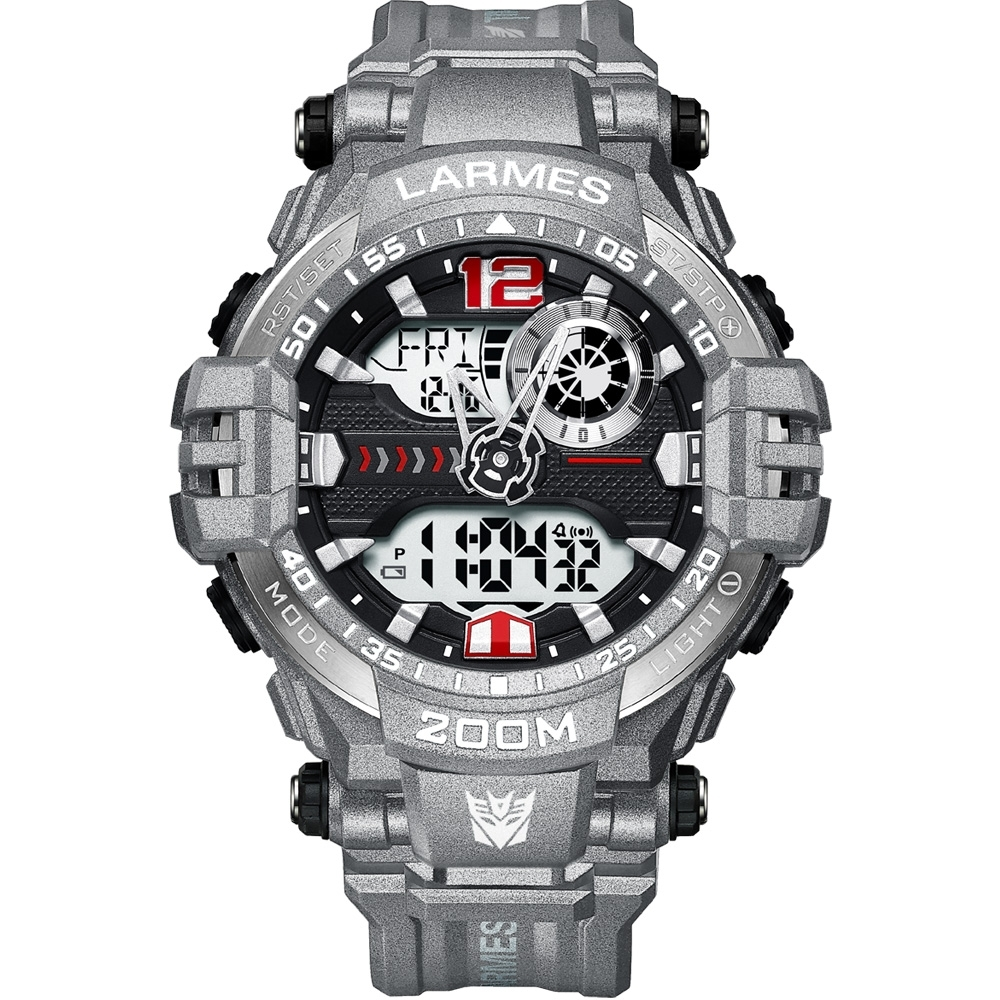 LARMES Transformers 變形金剛 聯名限量潮流雙顯腕錶 (密卡登)LM-TF004.MT33G.211.3GB
