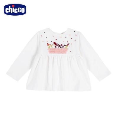chicco-秋之花園-繡花傘狀長袖上衣