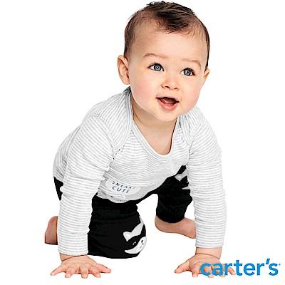 Carter's台灣總代理 浣熊造型3件組套裝