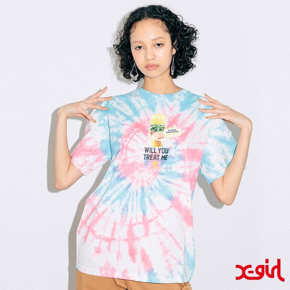 X-girl ICE CREAM S/S TEE冰淇淋渲染短T-多色