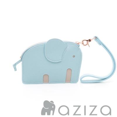 aziza小象造型鑰匙零錢包 水藍