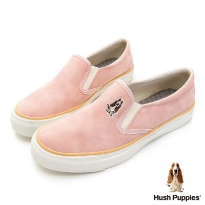Hush Puppies CASUAL 皮革直套便鞋-粉色