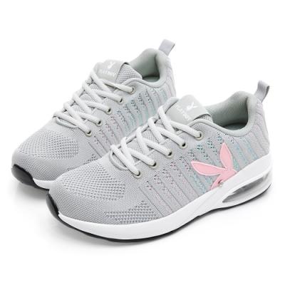 PLAYBOY 針織布氣墊輕量運動鞋-灰-Y573922
