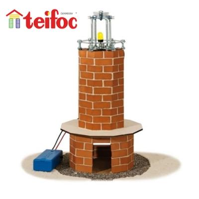 【德國teifoc】DIY益智磚塊建築玩具 - 燈塔(TEI4350)