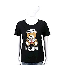 MOSCHINO Swim 水手泰迪熊寶寶黑色棉質T恤
