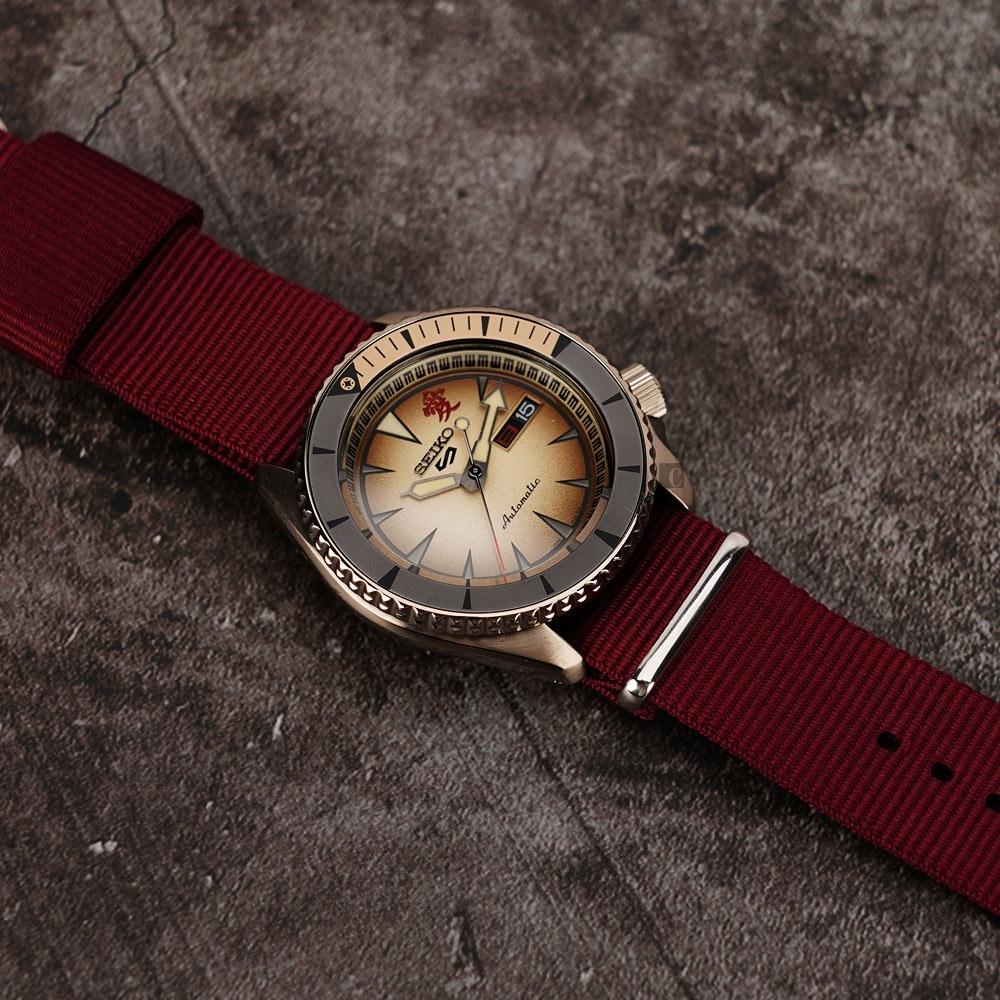SEIKO 精工 5 Sports 機械錶 (米色面) 錶帶自選顏色