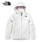 The North Face北面女款米白色防水透氣衝锋衣|3VPR11P