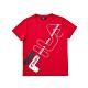 FILA KIDS 童吸濕排汗短袖上衣-紅 1TEV-4906-RD product thumbnail 1