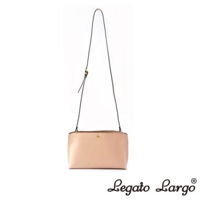 Legato Largo 驚異的輕量化 小法式輕便簡約 斜背小方包 櫻花粉