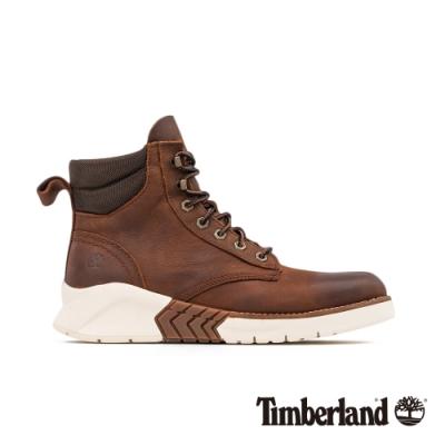 Timberland 男款地球英雄棕色皮革運動靴|A2C4R